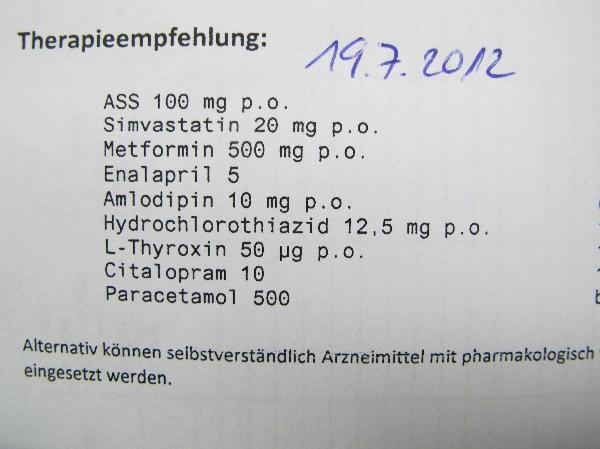 Metformin abgenommen