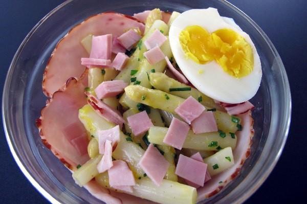 Spargel schinken salat mit ei lowcarb paleo - Eier hart kochen dauer ...